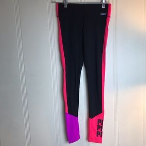 Victoria Secret Pink Ultimate Yoga Black Leggings